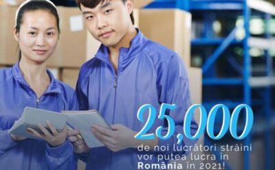 25.000 de lucrători străini vor putea lucra în România în 2021